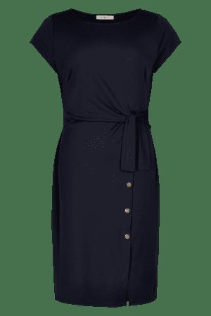 IN FRONT – Kjole med bindebånd