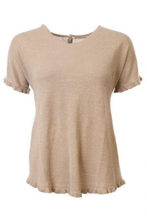 MANSTED – Bluse i strik med flæse