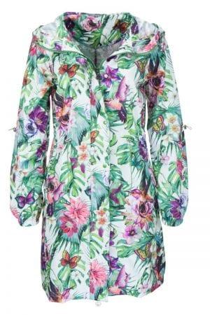 PRINCESS – Frakke 3/4 med blomster