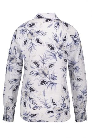 GERRY WEBER – Skjorte i hør med print
