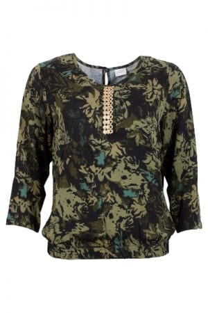 iN FRONT – Bluse i army look