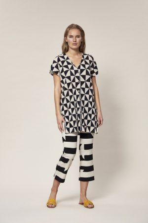 BITTE KAI RAND – Bluse med grafisk print