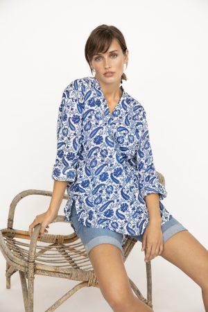 PART TWO – Skjorte i lang model med print