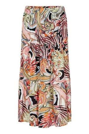 IN FRONT – Nederdel med print