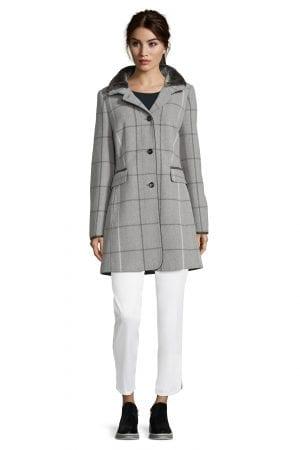 GIL BRET – Frakke i uld med tern