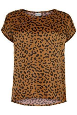IN FRONT – Bluse med leopard print