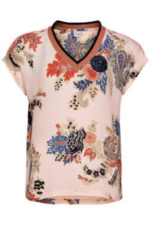 IN FRONT – Bluse med blomster print
