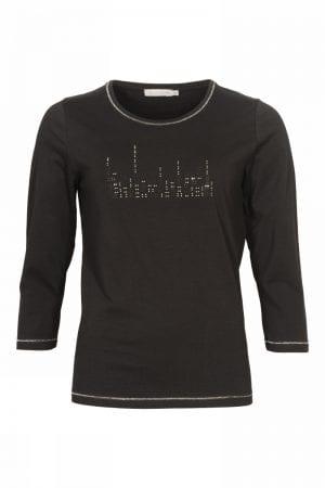 MICHA – T-shirts med sølv tekst