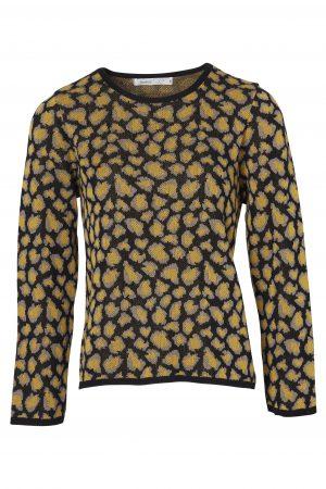 SKOVHUUS – Strik med leopard mønster