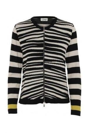 LIND – Cardigan i zebra
