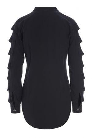 BITTE KAI RAND – Skjorte med flæse på ærme