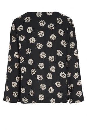 BITTE KAI RAND – Bluse med roset mønster