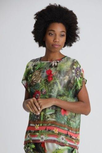 PRINCESS – Bluse med jungleprint
