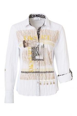 JUST WHITE – Skjorte med mønster