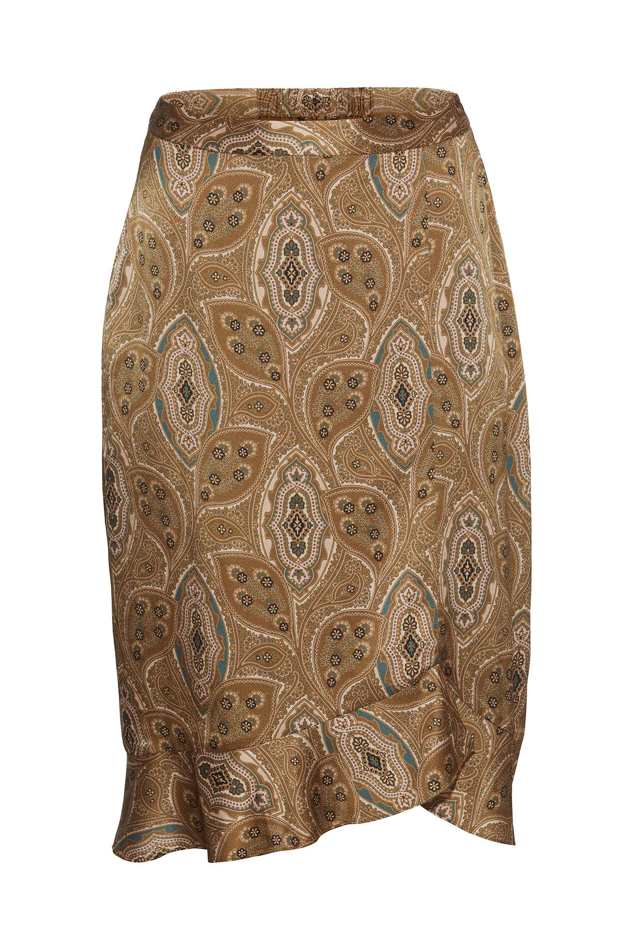 PBO GROUP – Nederdel i silke med print