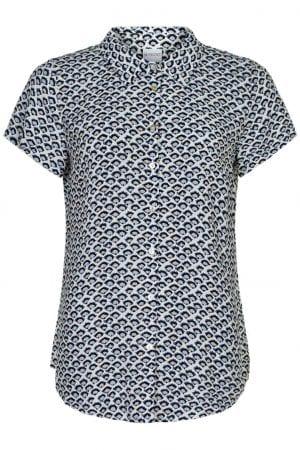 IN FRONT – Skjorte med print af vifter