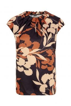 COMMA – Bluse med print af blomster