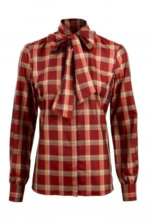 STENSTRÖMS – Skjorte med tern og sløjfe