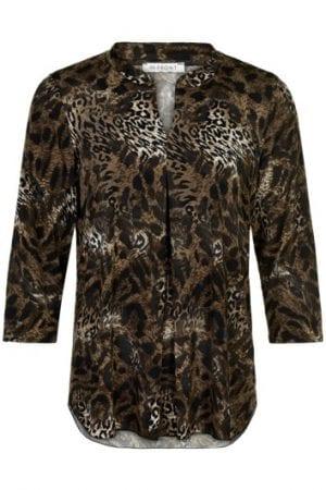IN FRONT – Bluse med leopard mønster